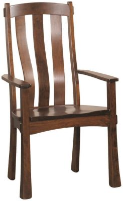 Rustic Cherry Mission Arm Chair