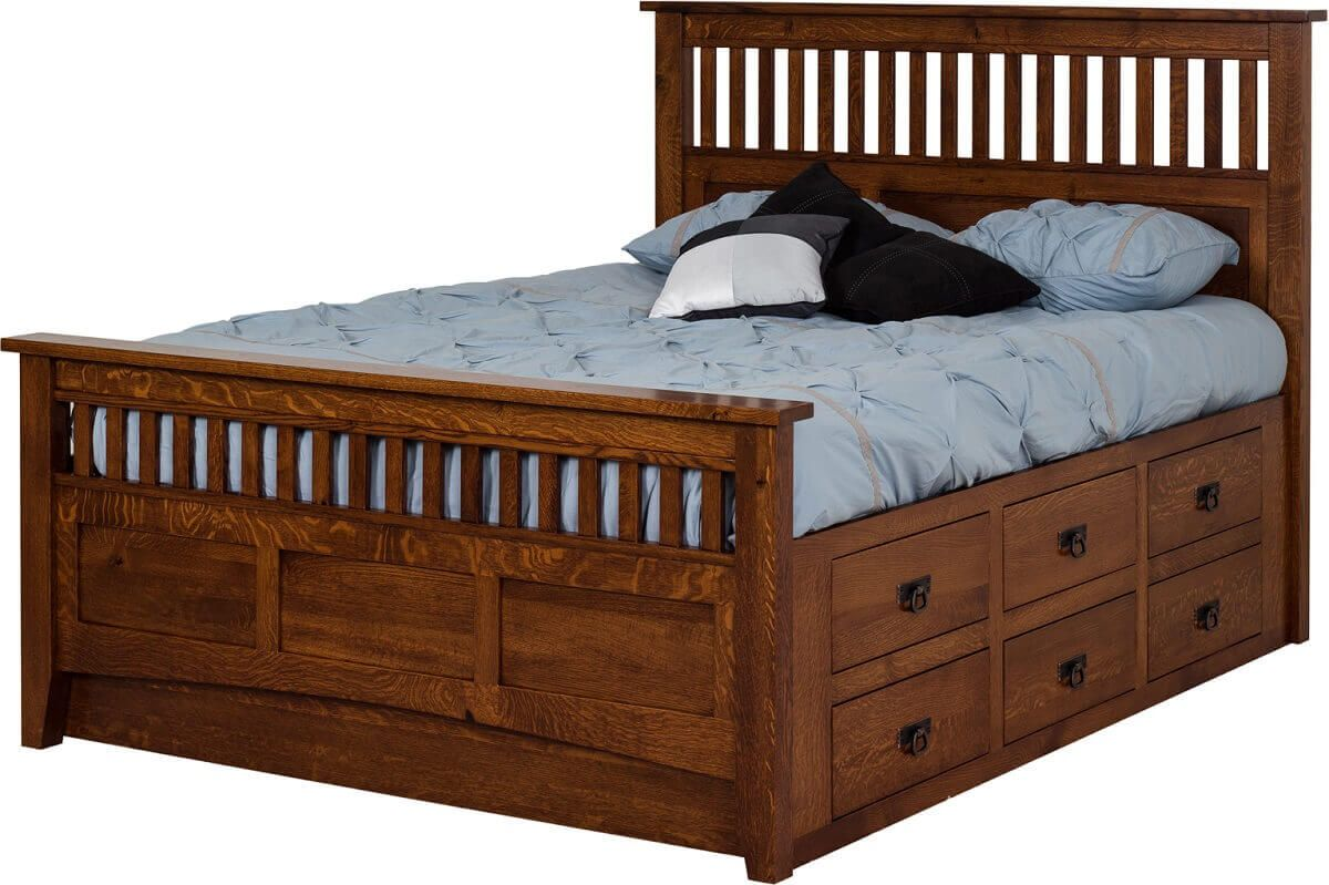 Midvale 12-Drawer Storage Bed