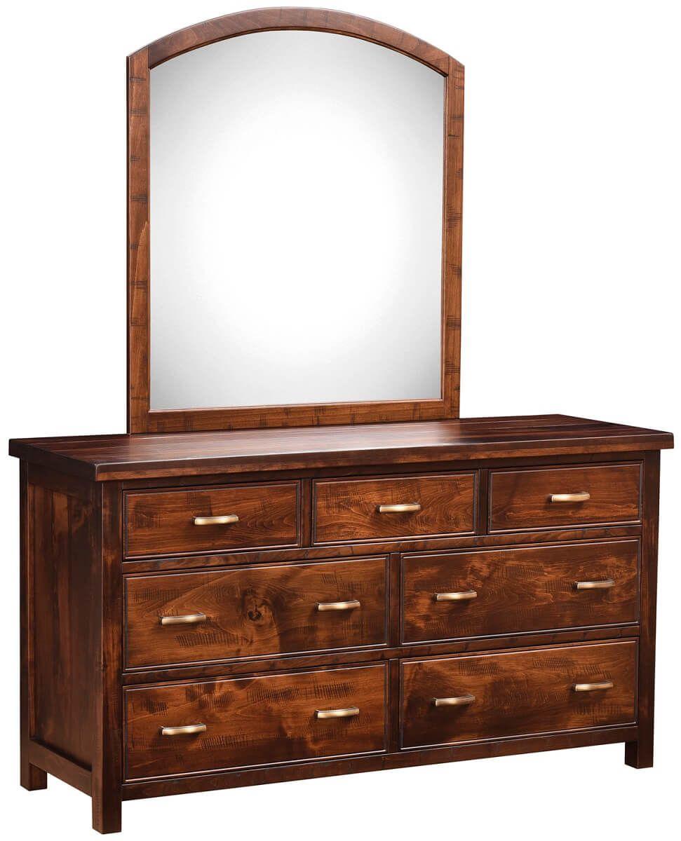 Beechwood Mirrored Dresser