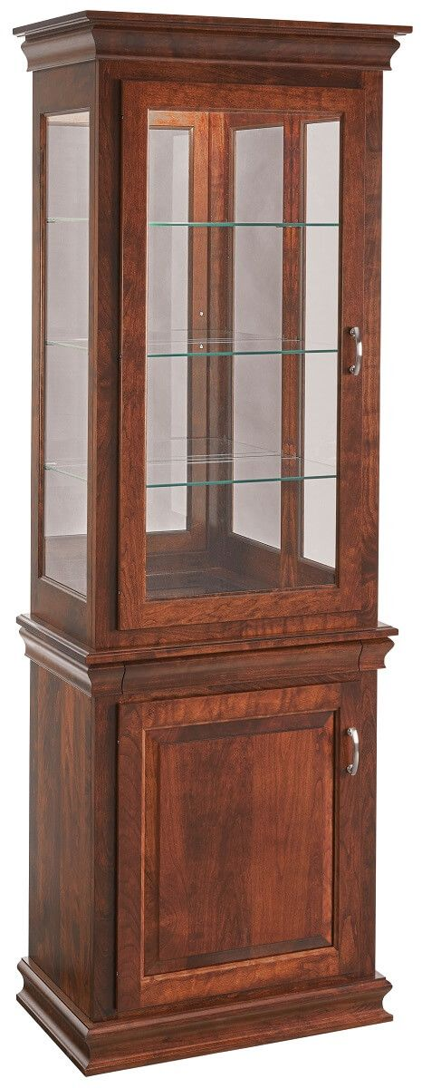 Traditional Curio Display with Cabinet