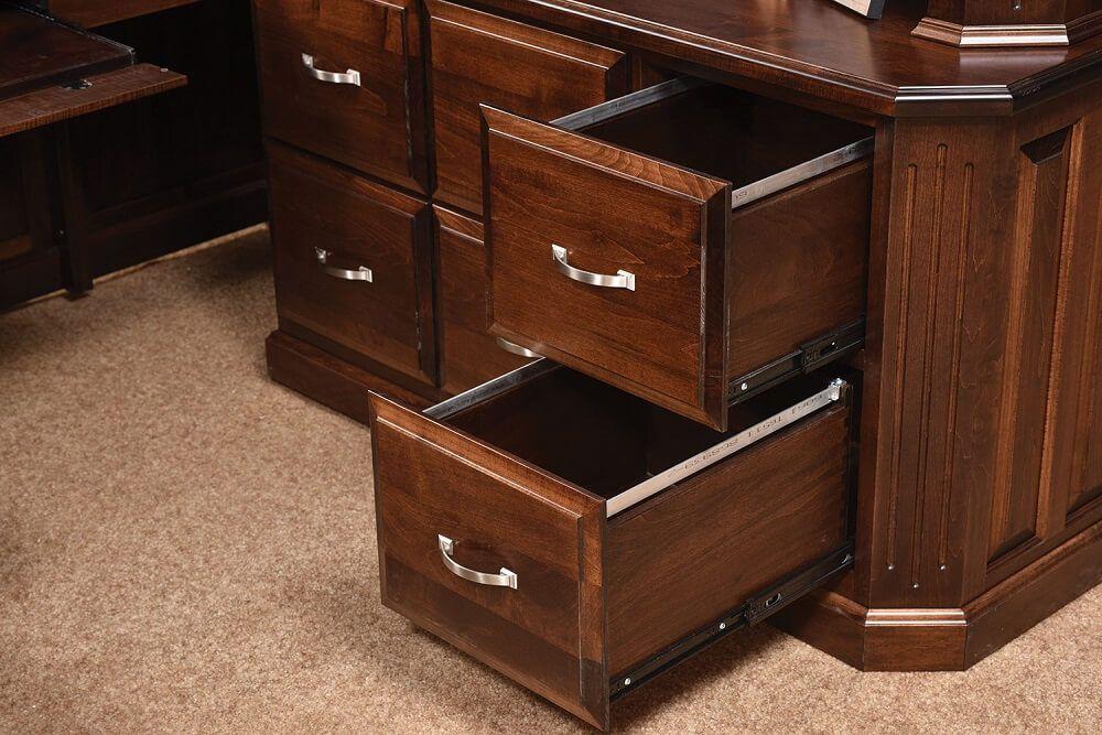 Corner Desk with Hutch Removed