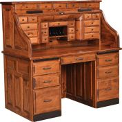 Awesome Roll Top Desks Premium Handcrafted Amish Rolltop Desks Interior Design Ideas Clesiryabchikinfo