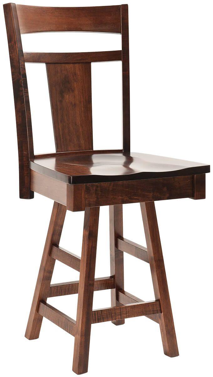 Augusta Amish made Swivel Bar Chair