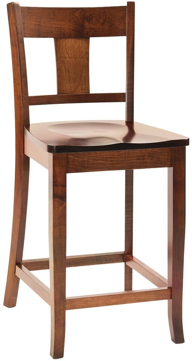 Axel Amish Counter Height Chairs - Countryside Amish Furniture