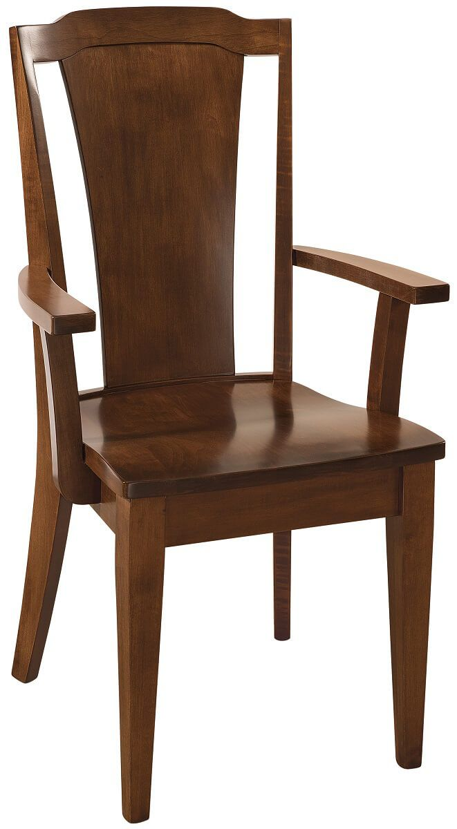 Cambria Contemporary Arm Chair in Brown Maple