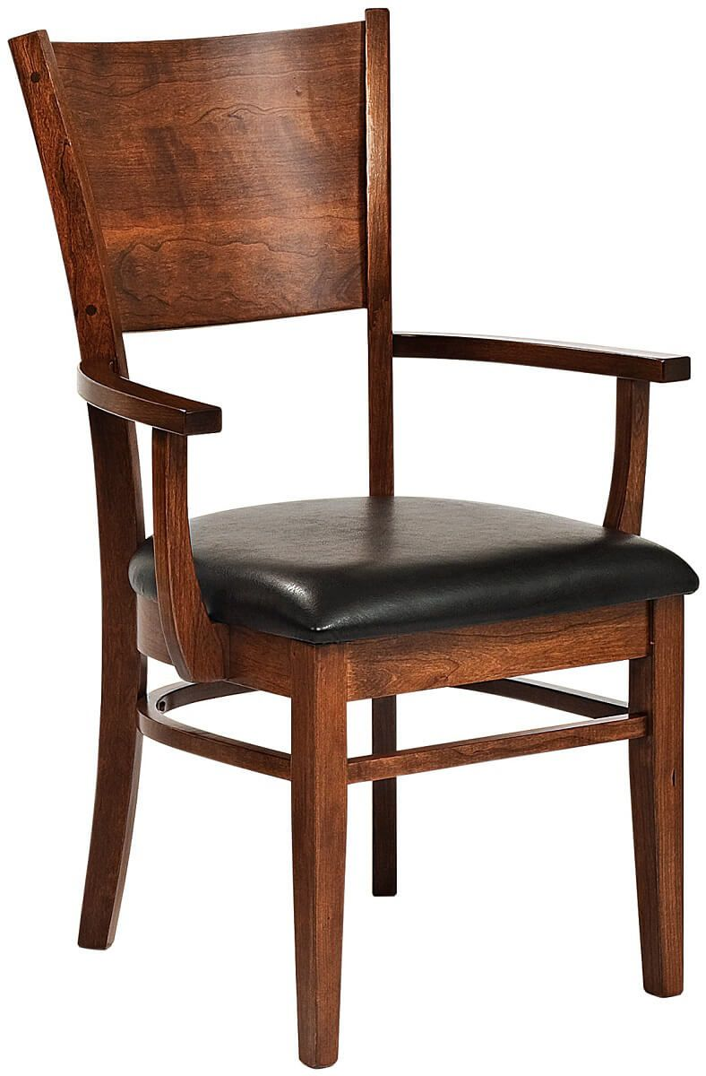 Coccotti Modern Arm Chair with Leather Seat