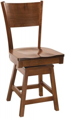 Coccotti Solid Wood Swivel Pub Stool