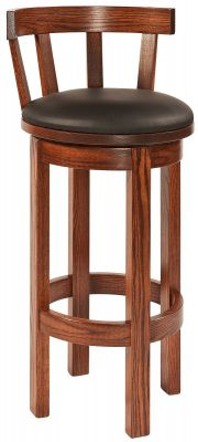 Everglades Leather Upholstered Swivel Counter Stool