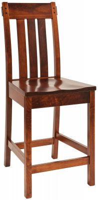 Guadalupe Mission Bar Chair in Brown Maple