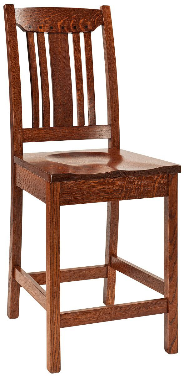 Harding Craftsman Style Amish Bar Chair