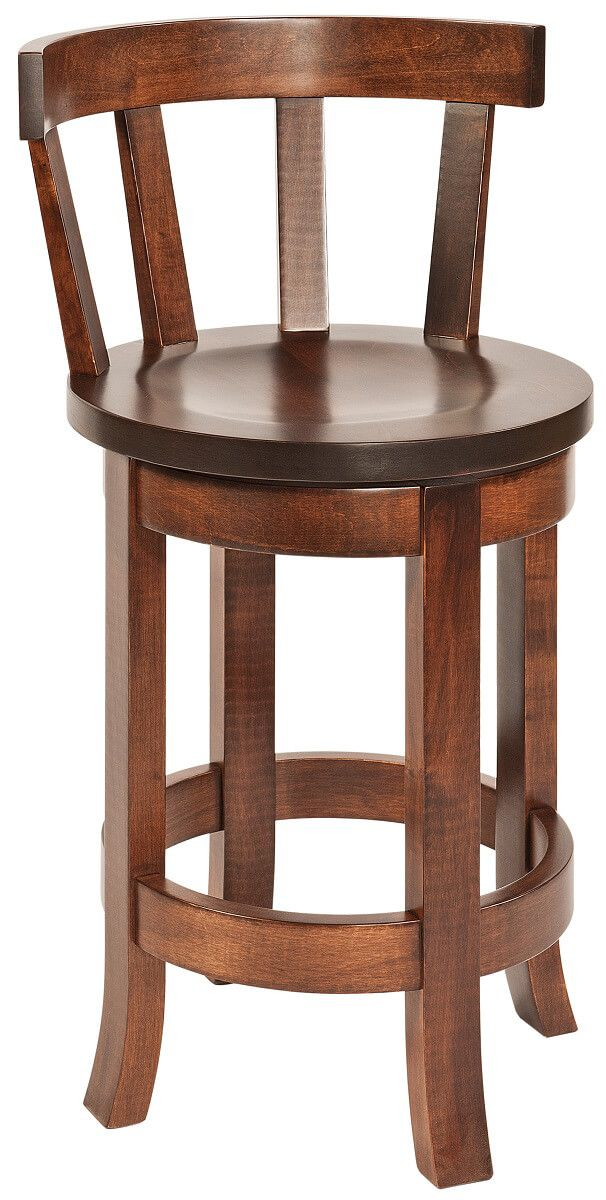 Harrow Swivel Amish Bar Stool with Back