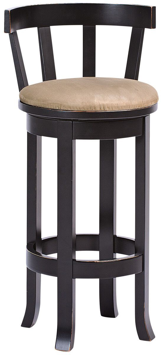 Harrow Upholstered Bar Stool with Back