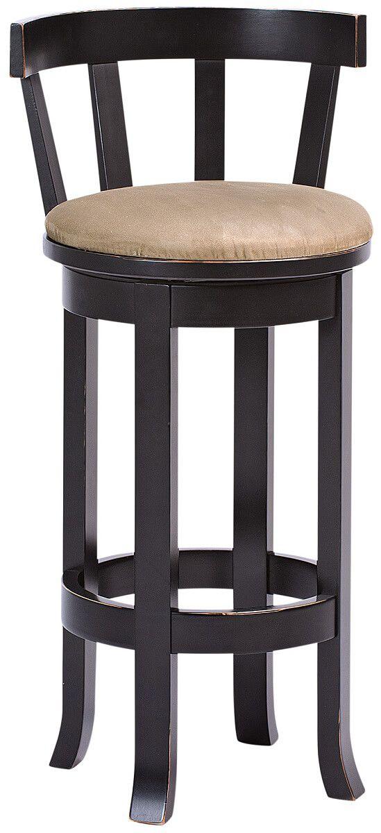 Harrow Upholstered Bar Stool with Back