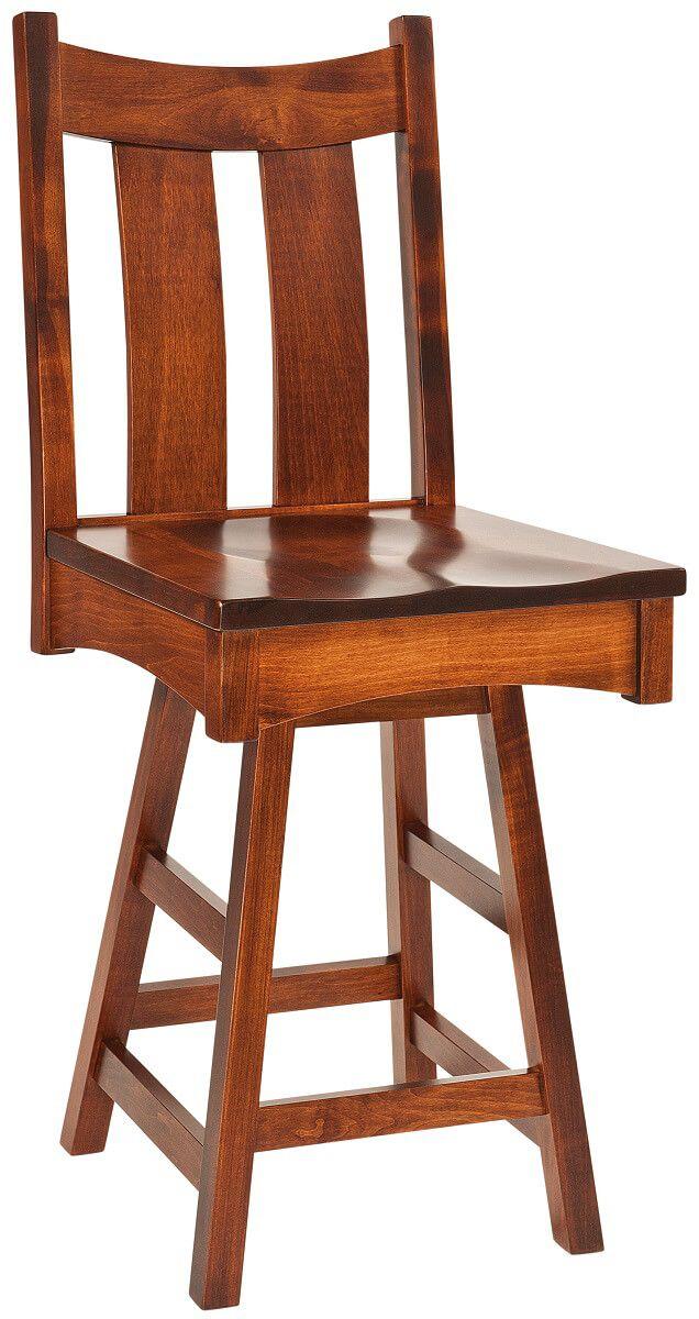 Hightower Gap Shaker Swivel Bar Chair