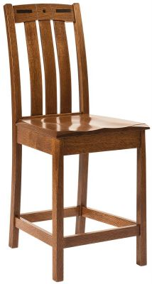 Mason City Mission Counter Chair