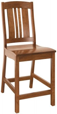 Matson Hill Amish Pub Chair in Cherry