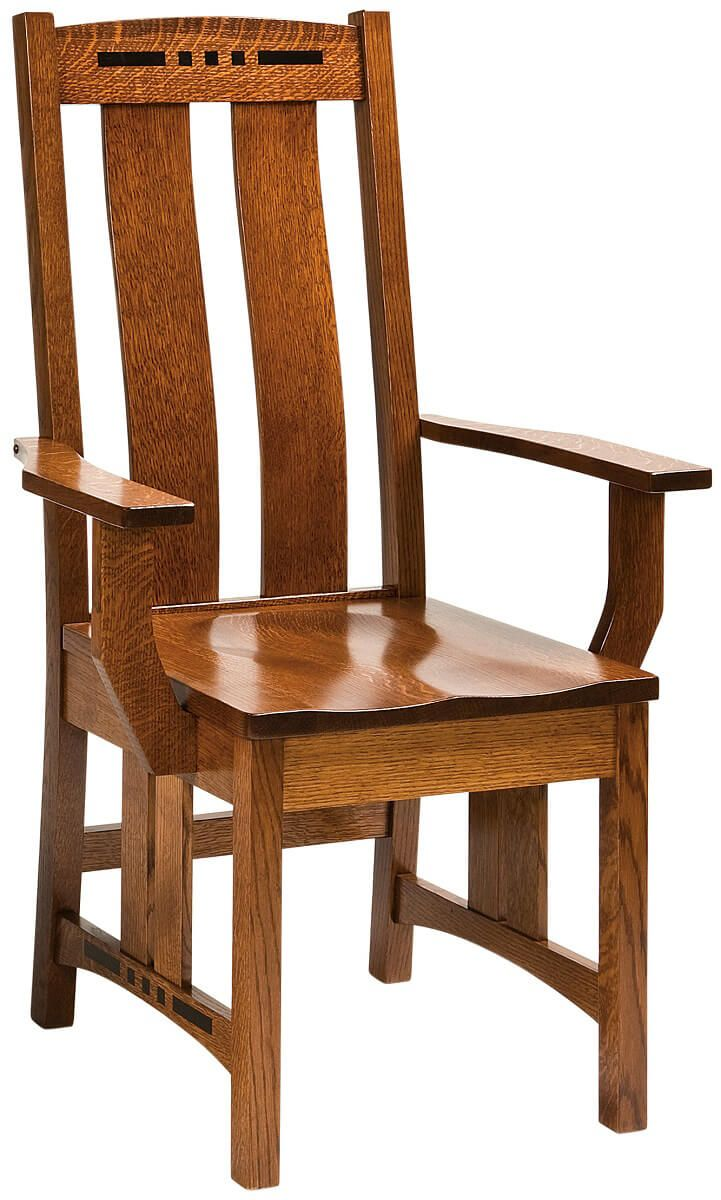 Moncada Craftsman Arm Chair in Quartersawn White Oak