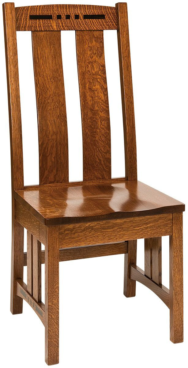 Moncada Craftsman Side Chair in Burnished Honey