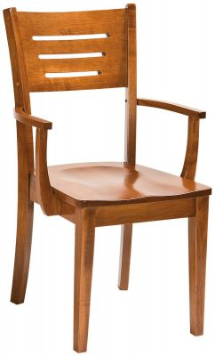 Pompeii Solid Wood Arm Dining Chair