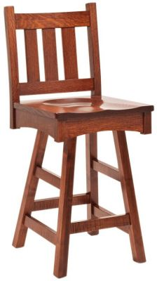 Portola Mission Swivel Bar Stool