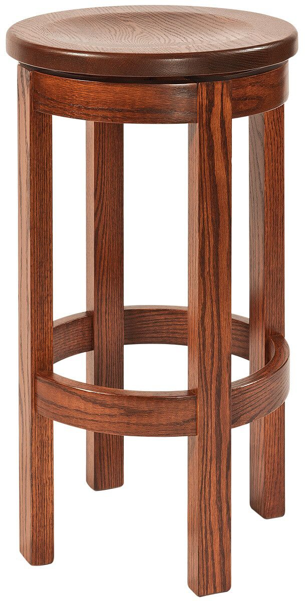 30 Inch River Walk Solid Wood Swivel Counter Stool
