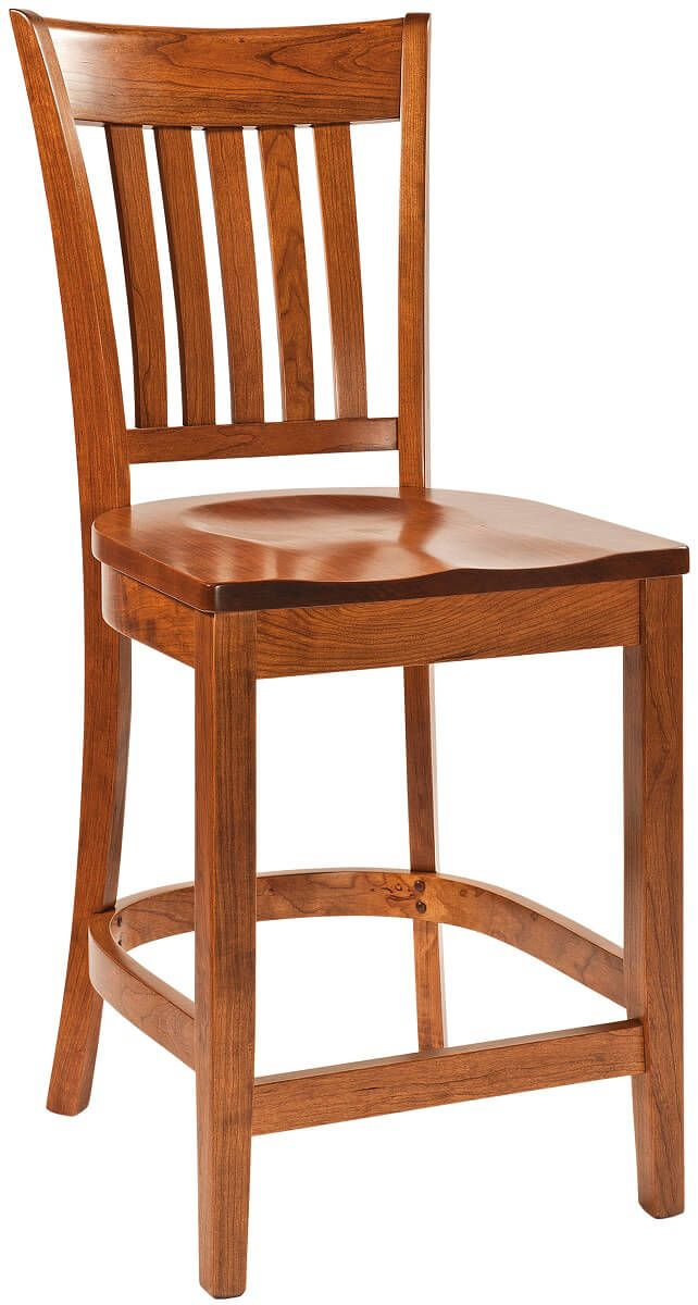 Rosetto Solid Wood Amish Pub Chair