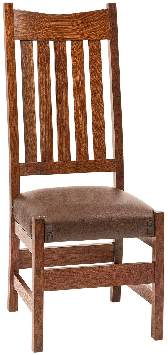Santiago Mission Side Chair in Quartersawn White Oak