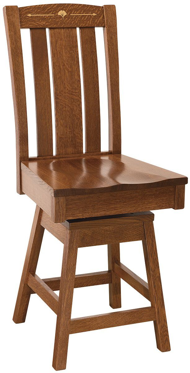 Singita Solid Wood Swivel Counter Stool