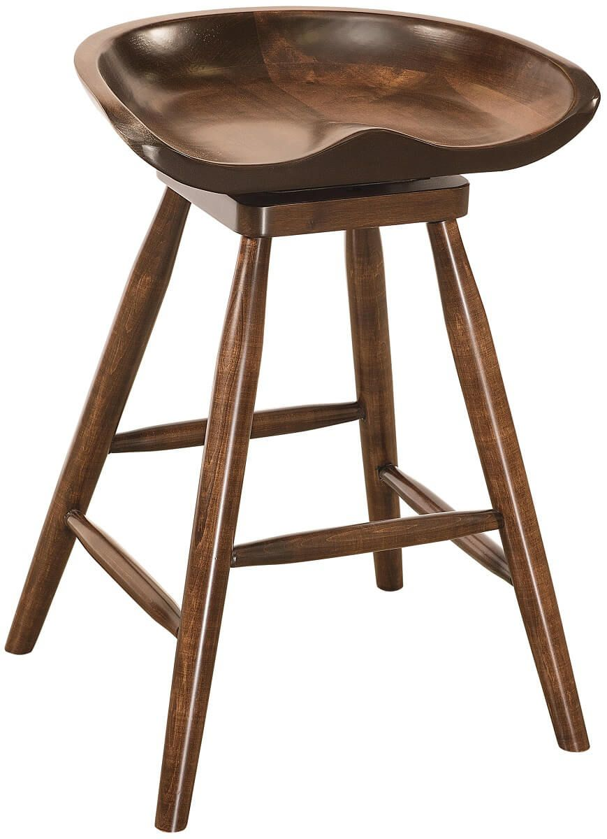 Spring City Swivel Bar Stool in Brown Maple
