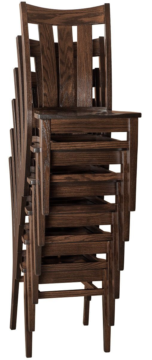 Hardwood Stackable Dining Chair