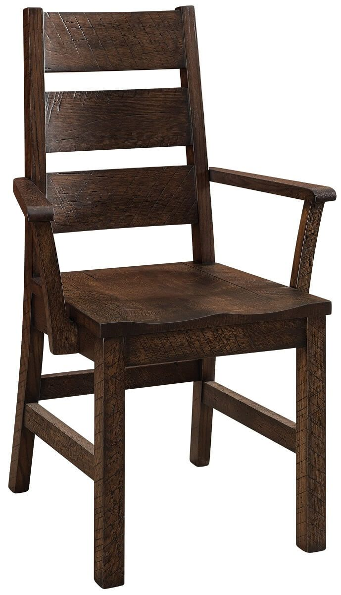 Distressed Ladder Back Arm Chair