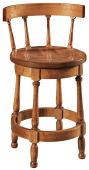 Pawnee Swivel Barstool with Back