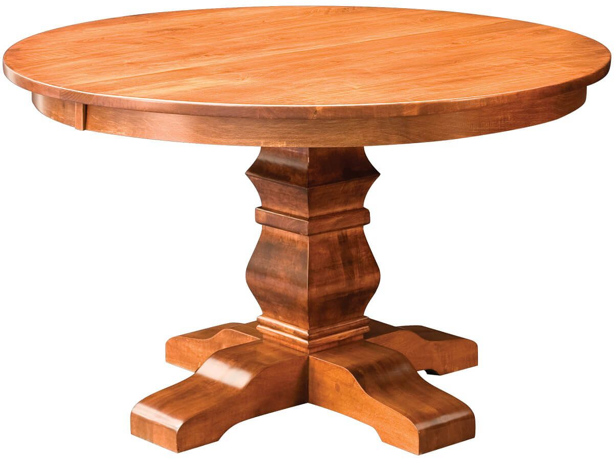 Duvall Round Single Pedestal Table