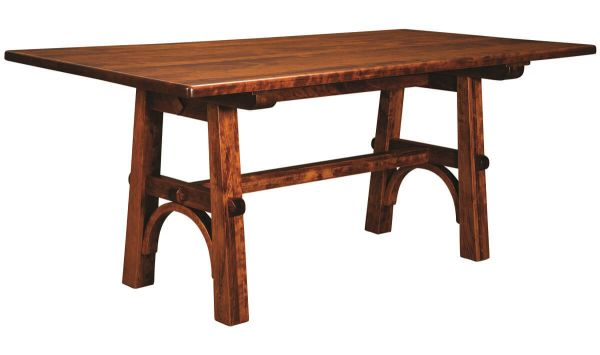 Greystone Arts & Crafts Trestle Dining Table