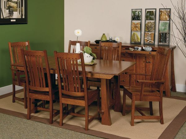 Harding Craftsman Style Dining Set Countryside Amish Furniture