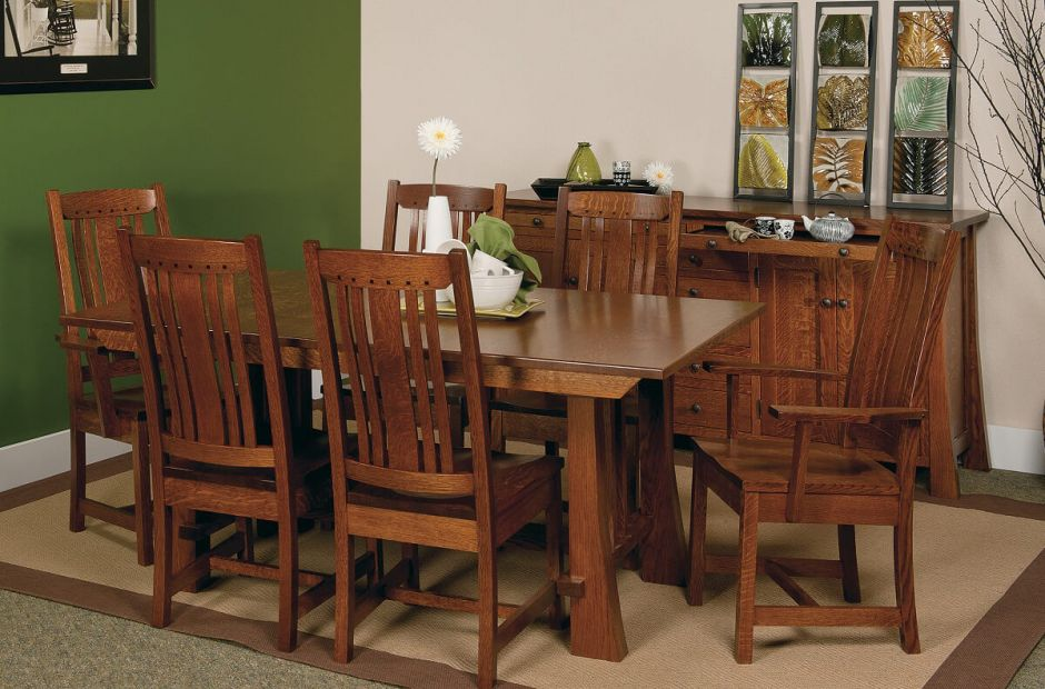 Harding Craftsman Style Dining Set - Countryside Amish Furniture