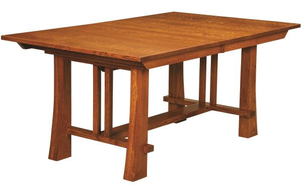 Peachy Harding Craftsman Style Trestle Table Countryside Amish Furniture Download Free Architecture Designs Grimeyleaguecom