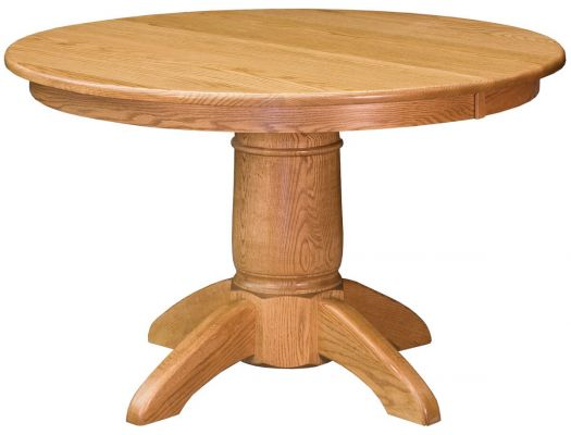 Harpers Ferry Round Oak Dining Table Countryside Amish Furniture