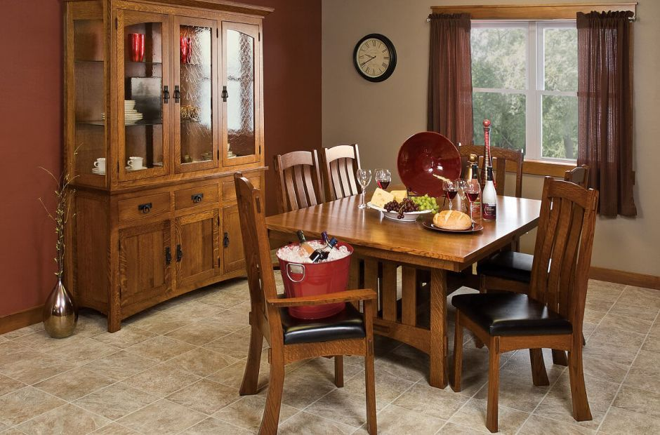 les halles mission dining set countryside amish furniture