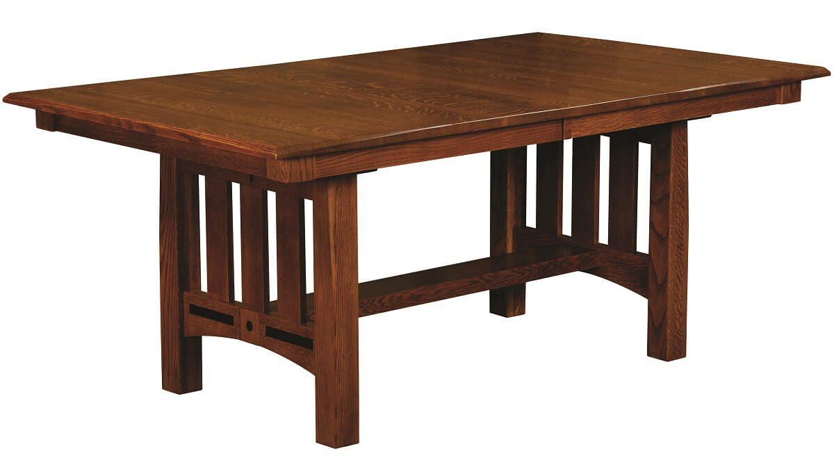 Mason City Mission Style Trestle Table
