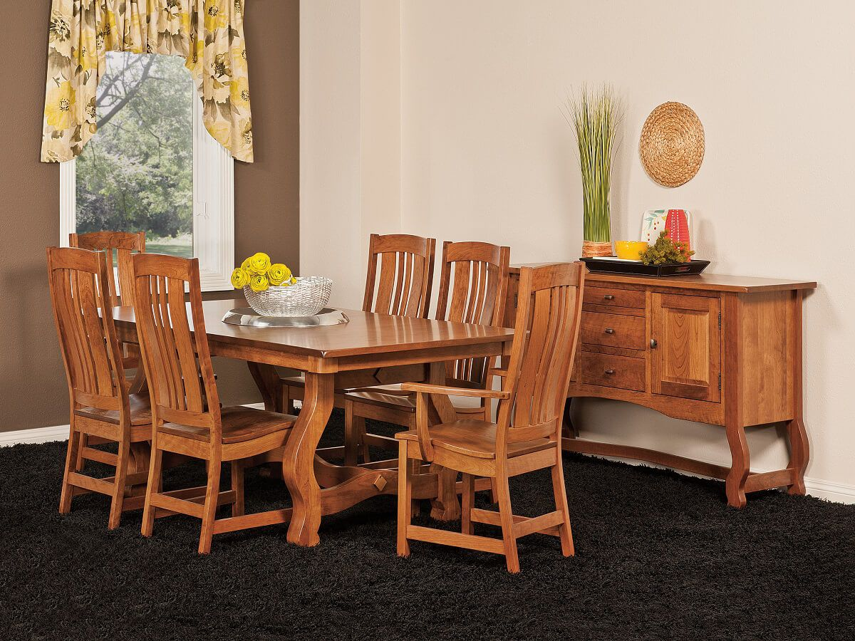 Matson Hill Mission Trestle Table Countryside Amish