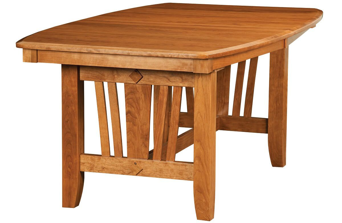 Medina Modern Solid Wood Trestle Table