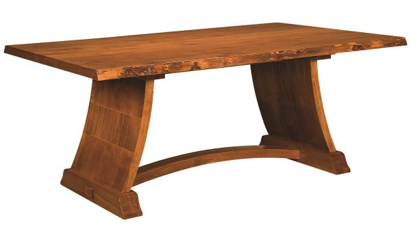 Mt. Whitney Live Edge Trestle Table