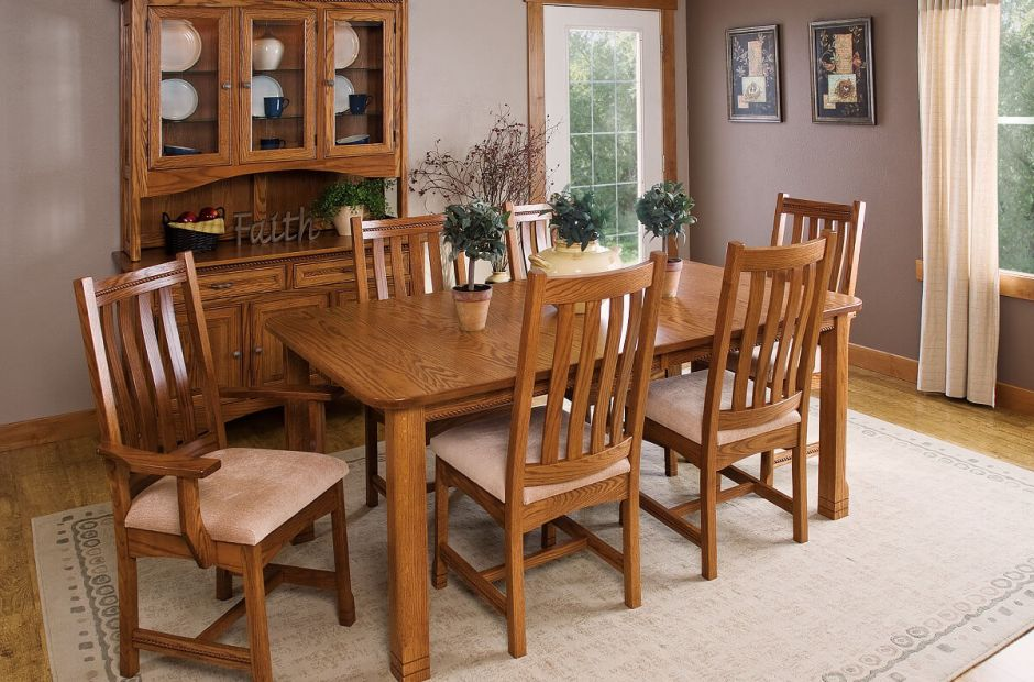 Parron Mission Kitchen and Dining Set image 1