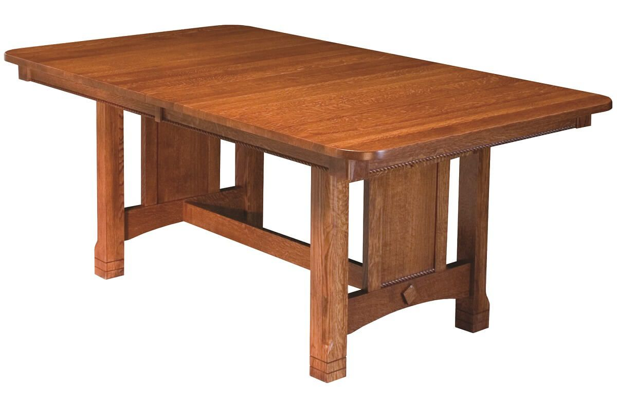 Parron Butterfly Leaf Trestle Dining Table