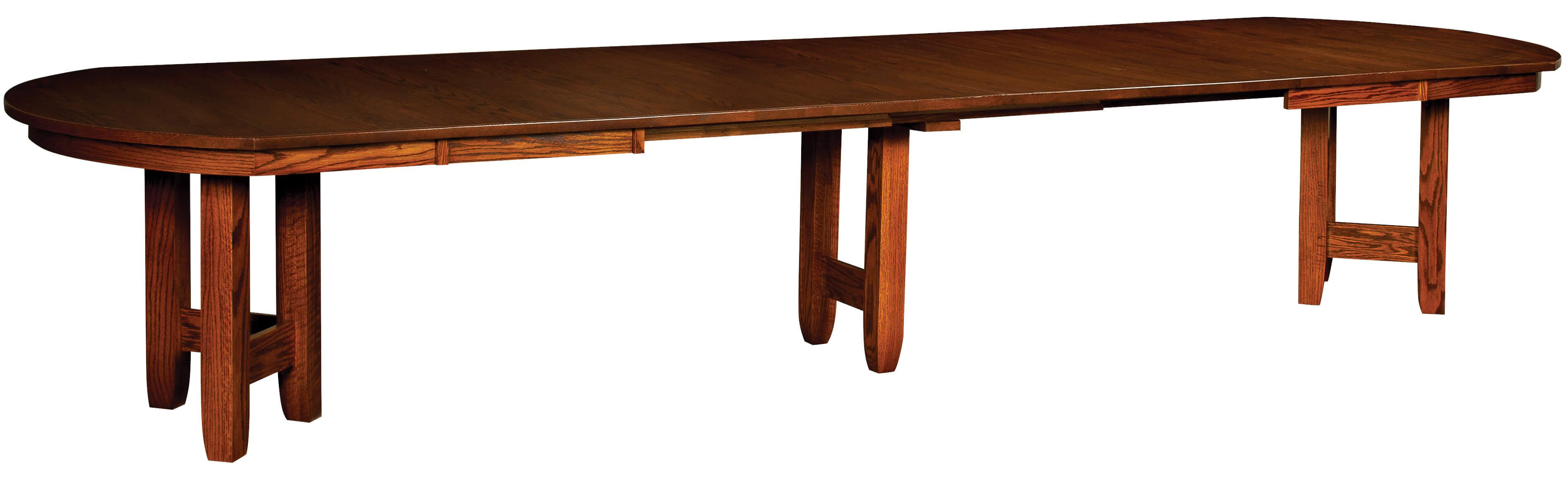 Fully Extended Riedel Oval Dining Room Table