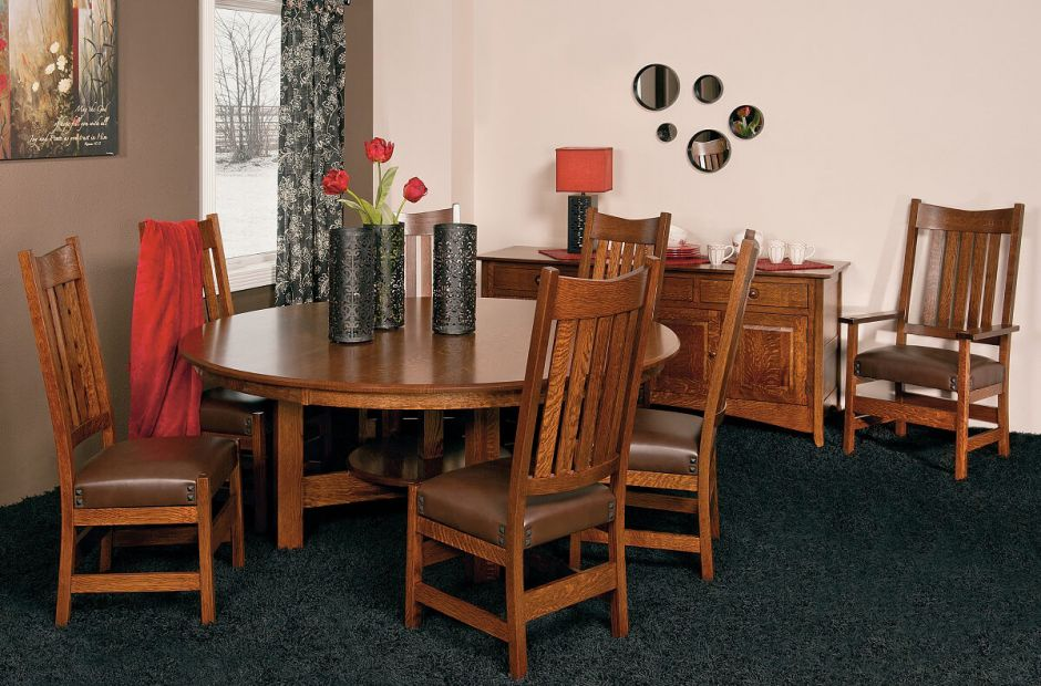 santiago mission dining room set countryside amish furniture