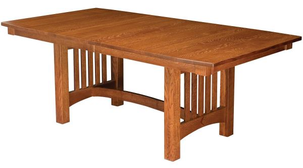 Omaha Mission Trestle Dining Table