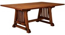 Vine Valley Rustic Trestle Dining Table Countryside