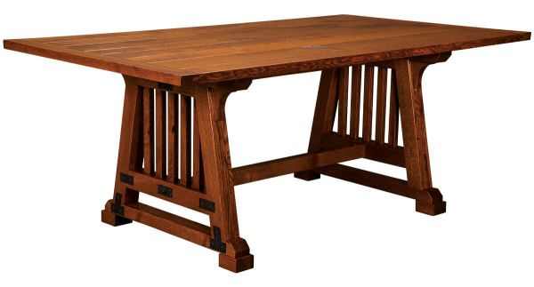 Vine Valley Rustic Trestle Dining Table Countryside Amish Furniture